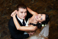 Happy bride and groom in dance Stock Photography