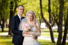 Happy bride and groom Stock Photo