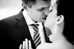 Happy bride and groom on their wedding Royalty Free Stock Images
