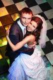 Happy bride and groom in wedding day Stock Image