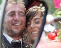 Happy bride and groom Stock Photos