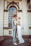 Happy bride and groom in wedding day Stock Photography