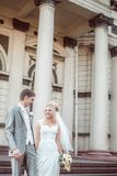 Happy bride and groom in wedding day Royalty Free Stock Photography