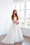 Happy bride indoors Stock Photography