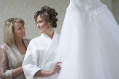 Happy Bride With Mother royalty free stock photography
