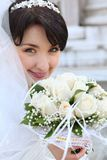 Happy bride portrait Stock Photos