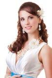 Happy bride portrait stock photography