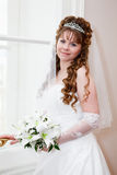 Happy bride portrait Stock Images