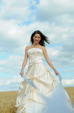Happy bride with ribbons Royalty Free Stock Photo