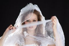 Happy bride on wedding. Royalty Free Stock Photo