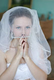 Happy bride on wedding Royalty Free Stock Photography