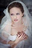Happy bride on wedding Stock Photography