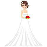Happy Bride Woman Character Stock Photography