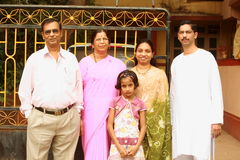Happy and bright Indian family. A bright Indian family in happy and easy mood Royalty Free Stock Photos