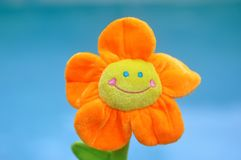 Happy Bright Orange Toy Flower Stock Photography