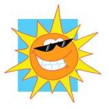 Happy bright sun character Stock Image