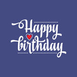 Happy Brithday. Greeting Card. Vector. Stock Photo