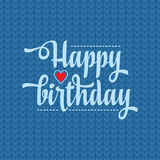 Happy Brithday. Greeting Card. Vector. Royalty Free Stock Photography
