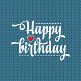 Happy Brithday. Greeting Card. Vector. Stock Image