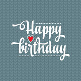 Happy Brithday. Greeting Card. Vector. Royalty Free Stock Photo