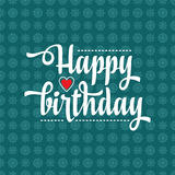 Happy Brithday. Greeting Card. Vector. Royalty Free Stock Photos