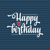 Happy Brithday. Greeting Card. Vector. Stock Photography