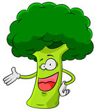 Happy broccoli Stock Photo