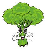 Broccoli show gesture. Happy broccoli show gesture rock and roll Stock Photo