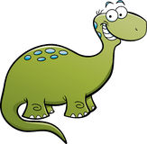 Happy Brontosaurus Royalty Free Stock Photos
