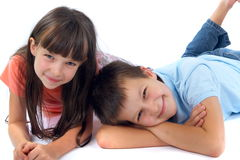 Happy brother and sister Royalty Free Stock Images