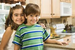 Happy brother and sister. Royalty Free Stock Photography