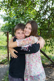 Happy brother and sister Royalty Free Stock Image