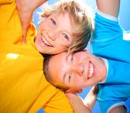 Happy brothers. Younger and older brothers together Royalty Free Stock Photography