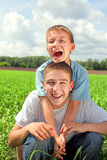 Happy brothers Royalty Free Stock Photos