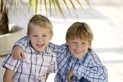Happy brothers Royalty Free Stock Image