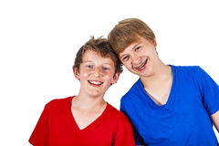 Happy brothers hugging Stock Image