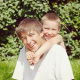 Happy Brothers Portrait Royalty Free Stock Photo