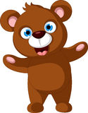 Happy brown bear cartoon Royalty Free Stock Photo