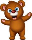 Happy Brown bear cartoon Royalty Free Stock Photography