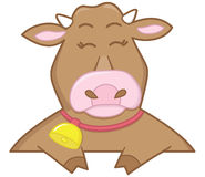 Happy brown cow Stock Photography