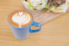 Happy brunch time. With coffee and salad Royalty Free Stock Images
