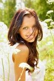 Happy brunette Stock Photo