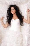 Happy Brunette bride Stock Images