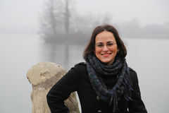 Overcoat Woman statue Stock Photography