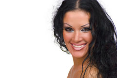 Happy brunette woman Royalty Free Stock Photo
