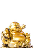 Happy Buddha on white background Royalty Free Stock Photos
