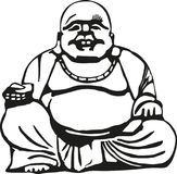 Happy buddha with big belly Royalty Free Stock Image