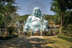 Happy Buddha. Big Statue. Linh An Tu Pagoda. Countryside around Dalat, Vietnam stock photography