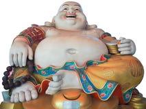 Happy Buddha. On white background stock images