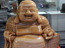 Happy budha!. Happy budha sitting in shop in Barcelona royalty free stock image
